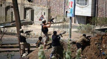 Combats dans la ville de Taëz au Yémen, le 12 mars 2016