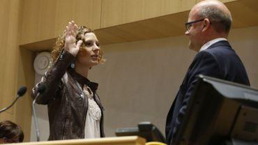 Marie-Martine Schyns (cdH) a prêté serment ce lundi pour devenir ministre francophone de l'Enseignement obligatoire.