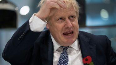 Le Premier ministre britannique Boris Johnson lors de la visite d'un centre de formation de la police à Hendon, dans le nord de Londres, le 31 octobre 2019.