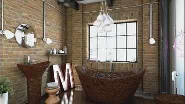 Une salle de bain en chocolat