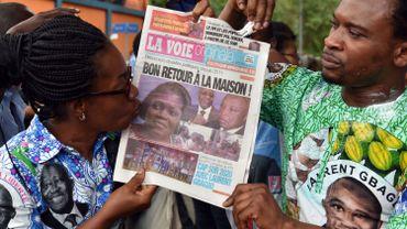 Des sympathisants de Simone Gagbo