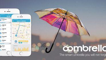 Relié à votre smartphone, l'Oombrella vous alerte sur la météo.