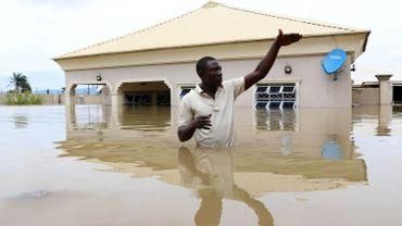 Inondation près de la ville de Lokoja au Nigeria