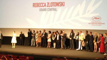 """L'équipe du """"Grand Central"""" venue en nombre pour présenter le film à Cannes"""