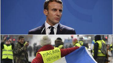 """Macron se dit """"honteux"""" des débordements occasionnés en marge du mouvement des gilets jaunes qui a secoué la France ce 24 novembre"""