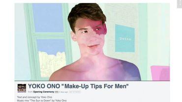 Yoko Ono veut maquiller les hommes en arc-en-ciel