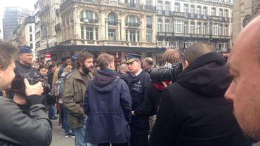 La ville de Bruxelles vient d'infliger plusieurs sanctions administratives à des militants présents à ce rassemblement le 2 avril dernier devant la Bourse.