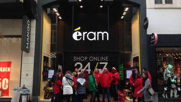 Le magasin Eram de la rue Neuve à Bruxelles, était fermé ce samedi