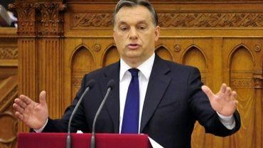 Viktor Orban le 12 décembre 2011 au Parlement à Budapest
