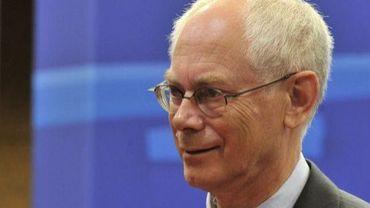Le président de l'Union européenne Herman Van Rompuy, le 5 septembre 2012 à Bruxelles. Il multiplie les rencontres.
