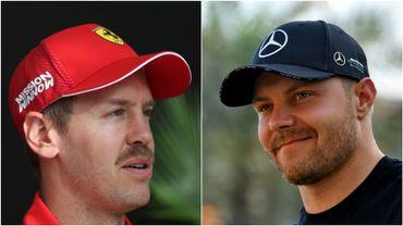 Vettel et Bottas