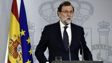 Le Premier ministre espagnol Mariano Rajoy, le 20 septembre 2017 à Madrid
