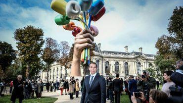 """Après presque trois ans de polémiques, les """"Tulipes"""" géantes de l'artiste Jeff Koons, cadeaux des Etats-Unis à la ville de Paris après les attentats de 2015-2016, ont été inaugurées vendredi."""
