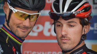 Tom Boonen et Fabian Cancellara