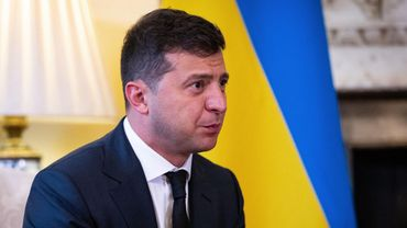 Le président Volodymyr Zelensky.