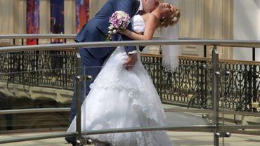 Des mariés en Russie - Image d'illustration