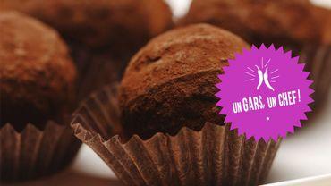Recette : les truffes au chocolat amer et au thé vert d'Un Gars, un Chef !