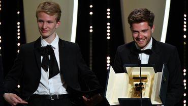 """Victor Polster et Lukas Dhondt à Cannes, lorsque """"Girl"""" a remprté la Caméra d'Or"""