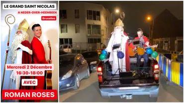 Quand saint Nicolas parcourt les rues dans un pick-up accompagné d'un chanteur infatigable