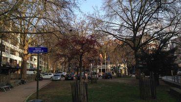 Le square Léopold, là où le projet devrait prendre place.