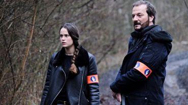 Constance Gay et Patrick Ridremont sur le tournage d'Unité 42, ou les enquêtes de la Brussels Digital Unit