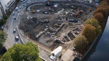 Les archéologues affairés sur le Grognon, à Namur, viennent de faire une découverte totalement inattendue...