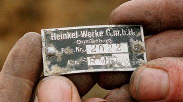 plaque d'un junker 88 découvert à Bièrghes en 1997