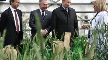 Le président russe Vladimir Poutine rencontre des agriculteurs à Krasnodar, dans le sud de la Russie, le 12 mars 2018