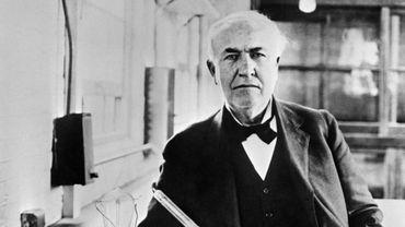Thomas Alva Edison (1847-1931), inventeur de l'ampoule électrique