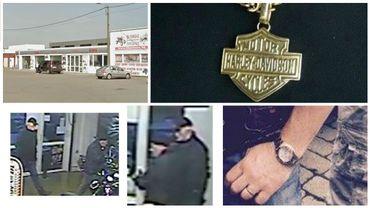 Le magasin, le pendentif volé, les auteurs et la montre volée
