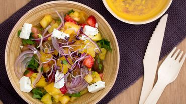 Salade salée aux fruits