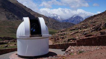 Trappist-Nord à l'observatoire de l'Oukaimeden au Maroc