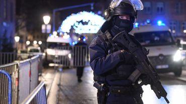 Police mobilisée en réaction à la fusillade de Strasbourg, le 11 décembre