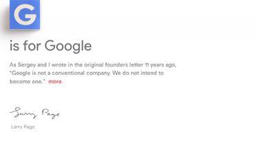 Le site d'Alphabet, dernier-né de Google, déjà bloqué en Chine