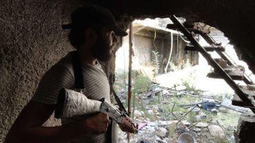 Un combattant rebelle à Damas, le 22 août