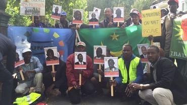 Manifestation à l'appel de l'IRA devant l'ambassade de Mauritanie, à Bruxelles