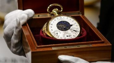 """Une montre Patek Philippe, présentée le 5 novembre 2014 à Genève chez Sotheby's comme """"la plus chère du monde"""", a été fabriquée dans les années 30 pour un banquier new-yorkais, Henry Graves"""