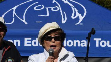 Yoko Ono à Central Park le 6 octobre 2015