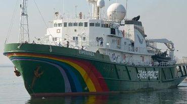 L'Esperanza, bateau de Greenpeace arraisonné le 30 mai 2014 par les garde-côtés norvégiens, photographié le 1er décembre 2012 à Manille