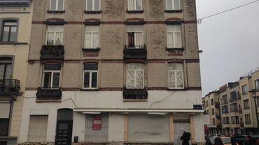 Le bâtiment perquisitionné ce vendredi à Molenbeek.