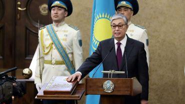 Le président par interim du Kazakhstan, Kassym-Jomart Tokaïev, prête serment le 20 mars 2019 à Astana.