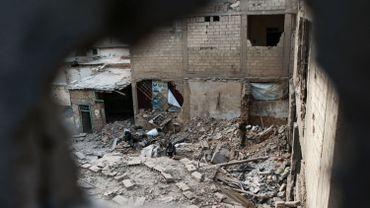Des ruines en périphérie de Damas, le 27 novembre 2017.