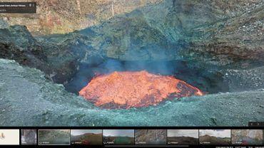 Google Street View a pris des photos des entrailles de la terre dans un volcan