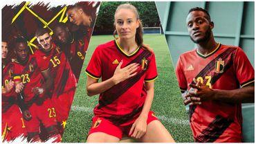 Nouveaux maillots de la Belgique