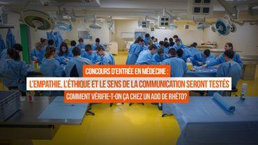 Le concours de médecine évaluera aussi les compétences humaines
