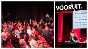 """Congrès de participation du """"Vooruit"""" (ex sp.a, les socialistes flamands) ce 30 septembre 2020 à Tamise."""