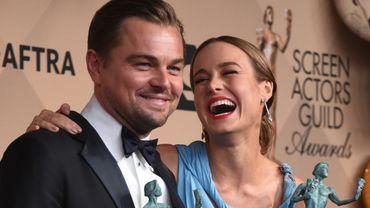 Leonardo DiCaprio et Brie Larson aux SAG Awards