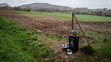 La stèle commémorative en hommage à Antoine Demoitié