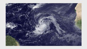 Image de l'ouragan Katia au-dessus de l'océan Atlantique, le 30 août 2011