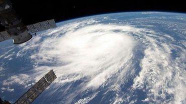 Image satellite fournie le 5 septembre 2011 de l'ouragan Katia évoluant le 31 août 2011 au dessus de l'Atlantique